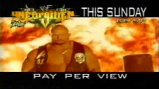 WWF Unforgiven 2000 Commercial