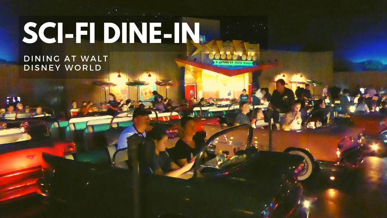 Sci Fi Dine In Theater Restaurant Full Experience Disney S Hollywood Studios