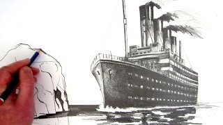 How to Draw the Titanic: Pencil Drawing(Now see How to Draw the Titanic using Coloured Pastels: http://youtu.be/r9uLCS7geqM See how to draw the RMS Titanic, narrated step by step in real time, ..., 2014-09-14T22:15:01.000Z)