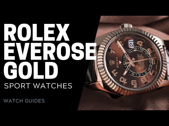 Rolex Sport Watches in Everose Gold   SwissWatchExpo