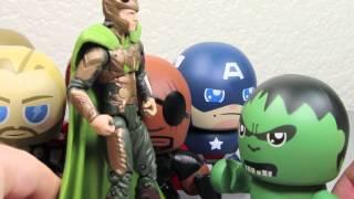 The Avengers Movie Mini Muggs Iron Man, Captain America, Thor, Hulk, Hawkeye & Nick Fury Review