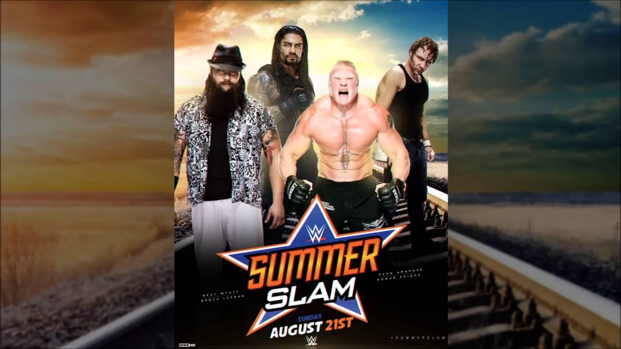 wwe summerslam 2016 poster youtube