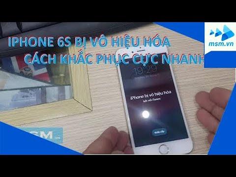 Hướng dẫn phá khóa Iphone 6s / IPhone 6s bị vô hiệu hóa / Retore Iphone 6s / Factore reset Iphone 6s
