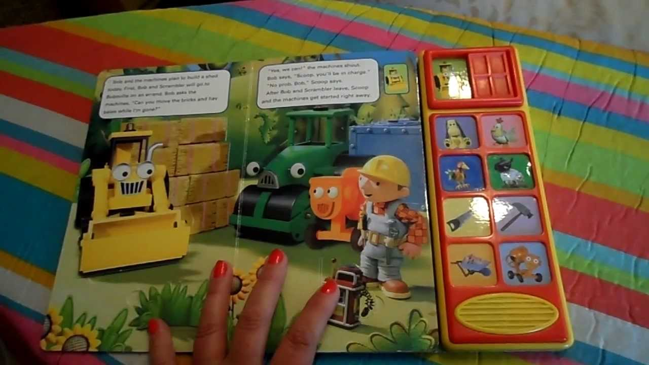 Toy Laptop Toys R Us Bob The Builder Reading Sounds Scoop 39;s Big Day Book