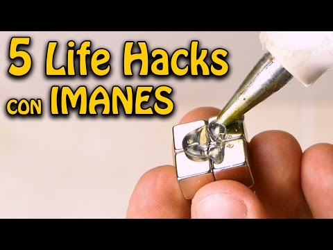 5 Trucos con Imanes que Haran tu Vida Mas Facil ! ( 5 Life Hacks with Magnets )