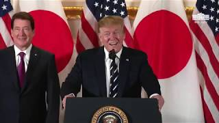 Right Side Broadcasting - President Trump Attends a Reception with Japanese Business Leaders