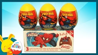 Oeufs surprises -  Spiderman - Unboxing surprise eggs -Titounis