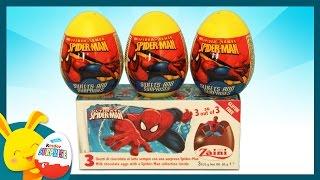 Oeufs surprises -  Spiderman - Unboxing surprise eggs -Titounis
