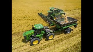 John Deere S790 Louisiana 2018 Rice Harvest 4K