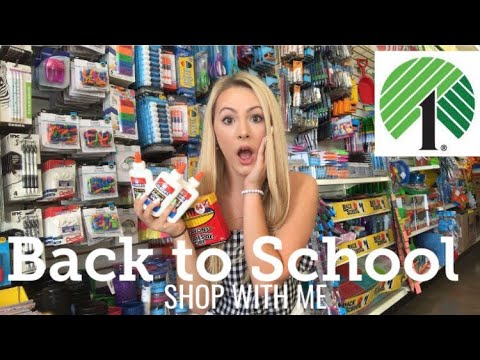 BACK TO SCHOOL DOLLAR TREE SHOP WITH ME!