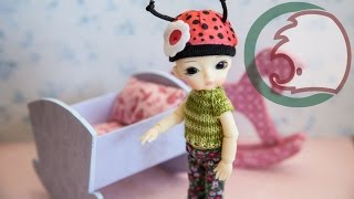 Как сделать детскую кроватку для кукол. How to make baby cot for dolls.