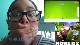 RE-BUILDING MY ROBLOX HOUSE. IB: Roblox girl