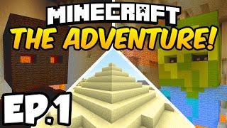 Minecraft: THE ADVENTURE Ep.1 - THE MYSTERIOUS DARKNESS!!! (Minecraft Adventure Map)