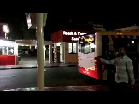 Dubai,Street night Views, Al Jafiliya, Satwa, Bus Station, UAE