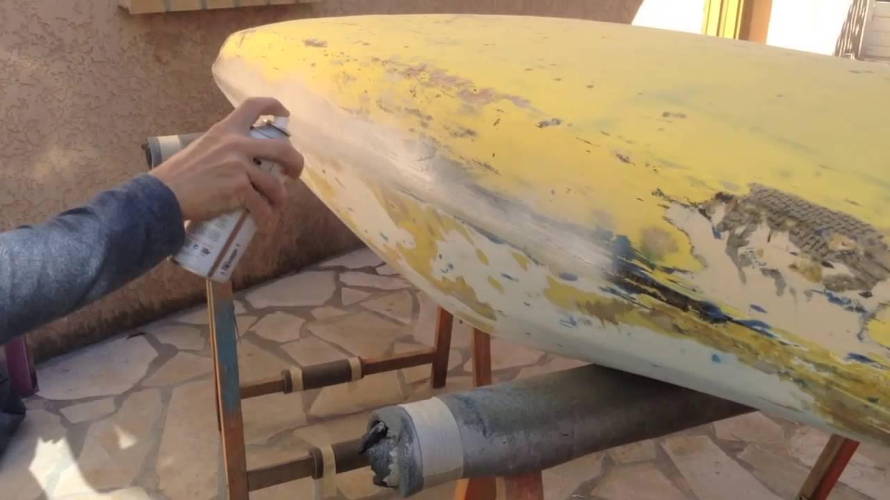 R novation d 39 un kayak fibre 2016 youtube - Peindre fibre de verre murale ...