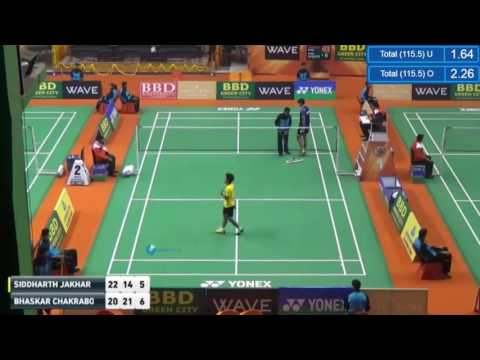 Syed Modi 2017 Day1 MS   Siddharth JAKHAR vs Bhaskar CHAKRABORTY