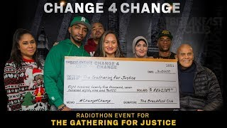 The Breakfast Club Present Harry Belafonte & The Gathering For Justice With A Giant Check