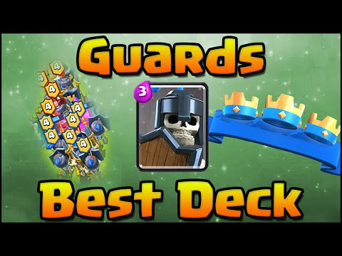 Clash Royale - Best Guards Strategy and Deck with Hog Rider + Mini Pekka Cycle for Arena 7 & Arena 8