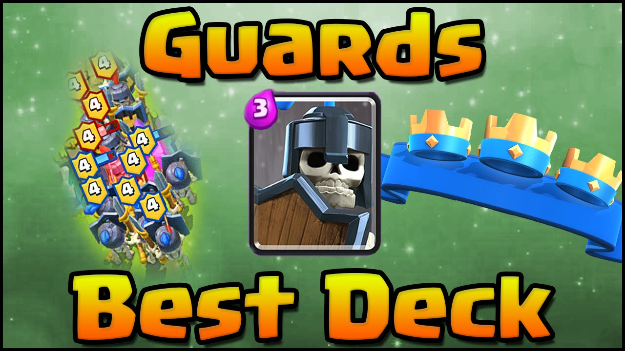 Clash royale best guards strategy and deck with hog for Deck pekka arene 7