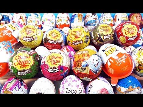 50 СЮРПРИЗОВ Маша и Медведь, Смешарики, Миньоны,My little pony,Disney Kinder Surprise Eggs unboxing