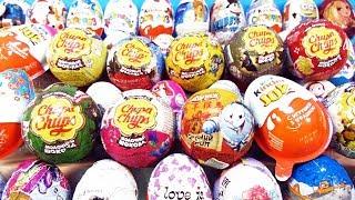 50 СЮРПРИЗОВ! Маша и Медведь, Смешарики, Миньоны,My little pony,Disney Kinder Surprise Eggs unboxing