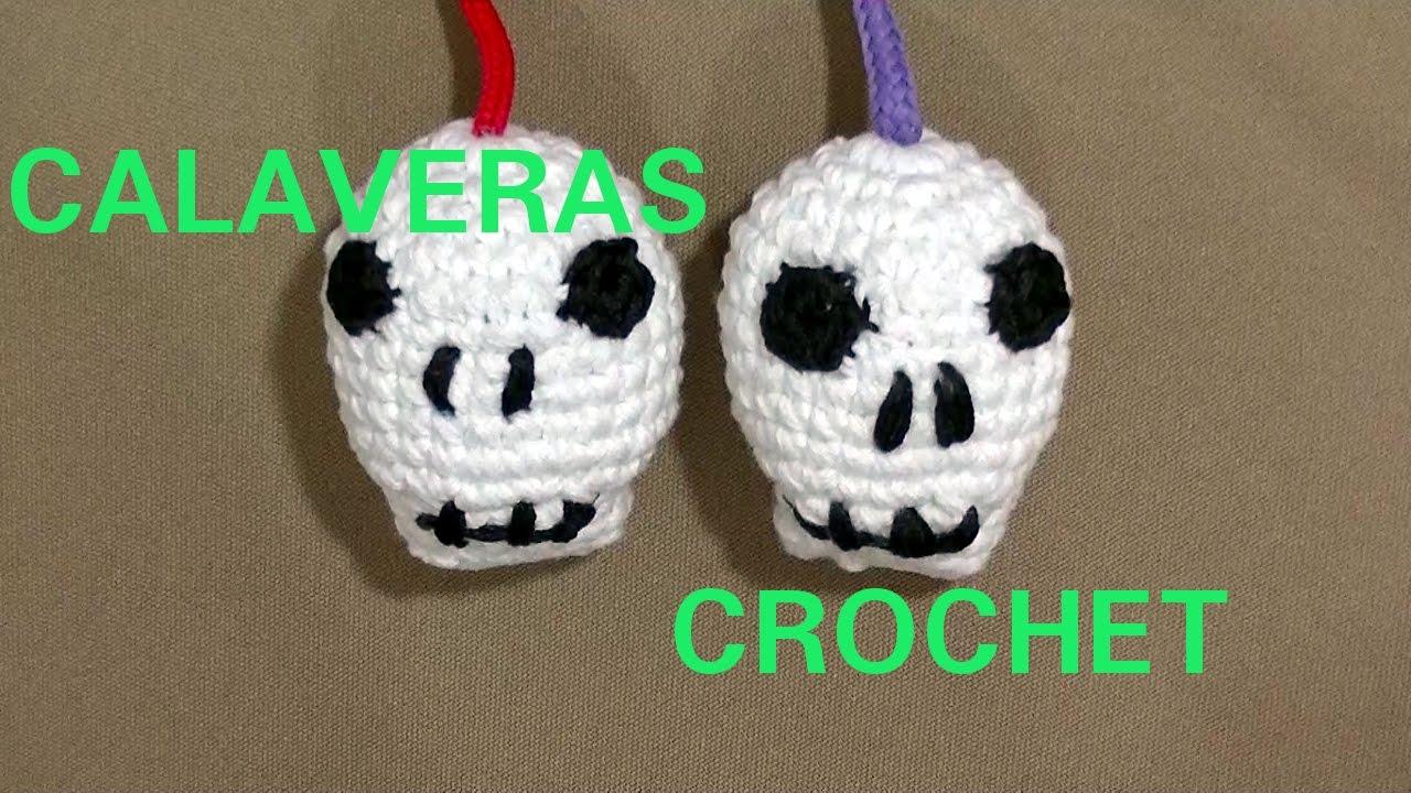 CALAVERA #halloween en tejido crochet o ganchillo tutorial paso a ...