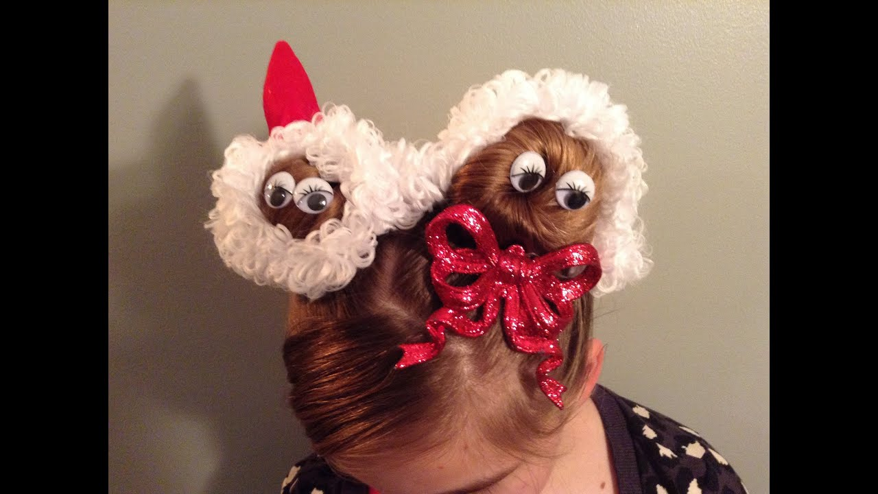 Christmas Holiday Santa And Mrs Claus Hairstyle YouTube