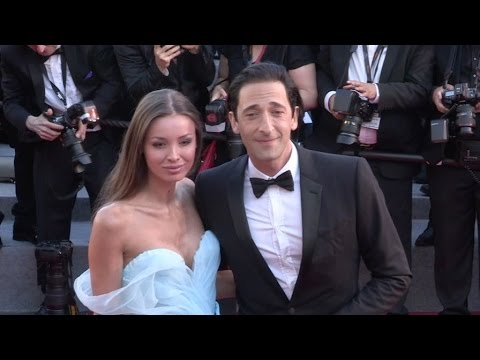 Adrien Brody and girlfriend Lara Lieto on the red carpet for the Opening Ceremony of the 70th Cannes