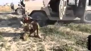 Iraklı askerin vurulma anı