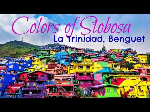 AMAZING colorful HOUSES on the HILLSIDE🏠La Trinidad BENGUET!!!