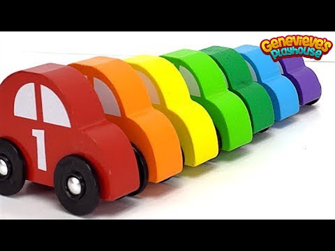 Thumbnail: Best Learning Video for Kids: Learn Colors Sorting Car Preschool Toys! Genevieve Joins the Fun Play!