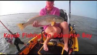 Kayak Fishing On Galveston Bay Area
