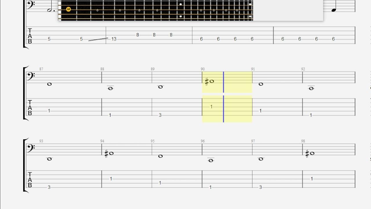 Bush Glycerine Bass Guitar Tab Youtube