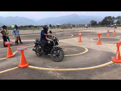 Motorbike Licence Trial in Nepal
