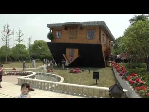 Casa 'de Cabeça Para Baixo' Atrai Visitantes Na China - Leitura Dinâmica 01/05/2014