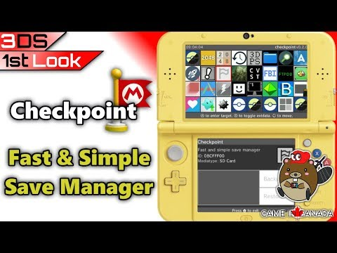 Checkpoint: Fast Simple Save Manager - 3DS: First Look - Can