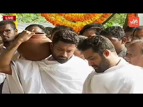 Harikrishna Final Rites  Nandamuri Harikrishna Funeral  Jr NTR   Balakrishna   YOYO TV NEWS