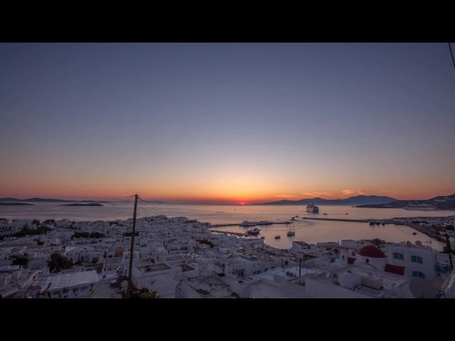 Sonnenuntergang über Mykonos