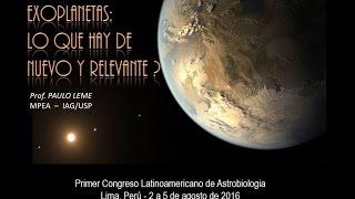 Exoplanetas: ¿lo que hay de nuevo y relevante? - Prof. Paulo Leme