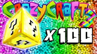 Minecraft Crazy Craft 3: 100 Lucky Block Opening! #49