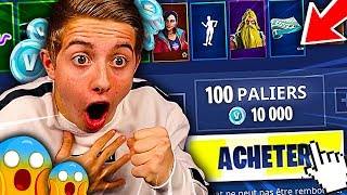 I'm BUYING ALL THE SAISON COMBAT PAS 9 ON FORTNITE BATTLE ROYALE !!!
