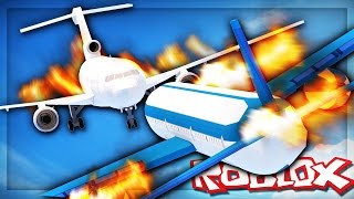 Roblox Adventures - SURVIVE A MID-AIR PLANE CRASH! (Flugzeugkriege)