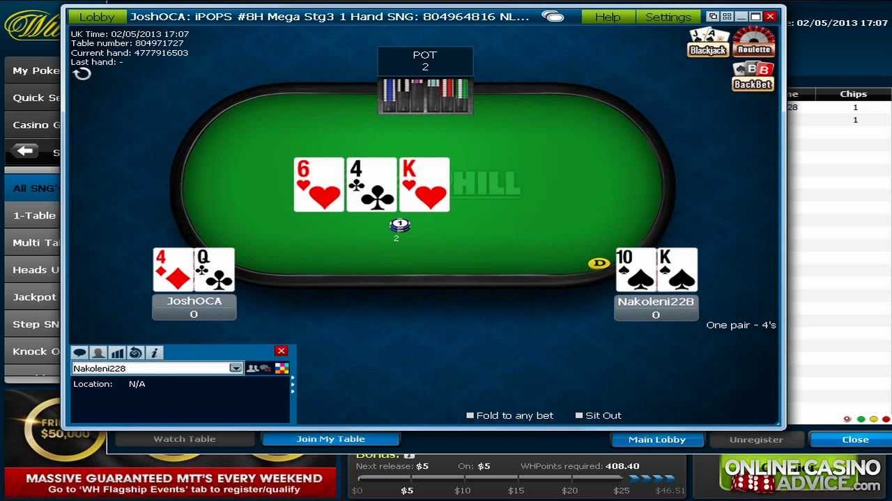 online poker sites bovada