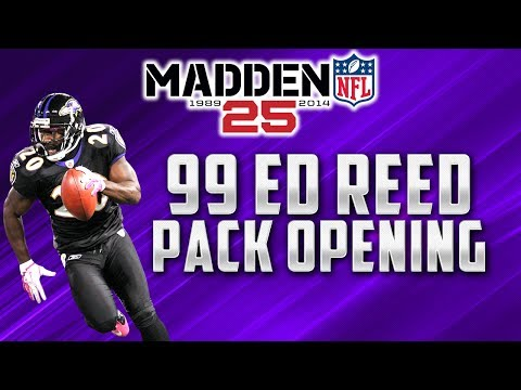 MUT 25 - Ed Reed Pack Opening + Derrick Thomas Legend Collection
