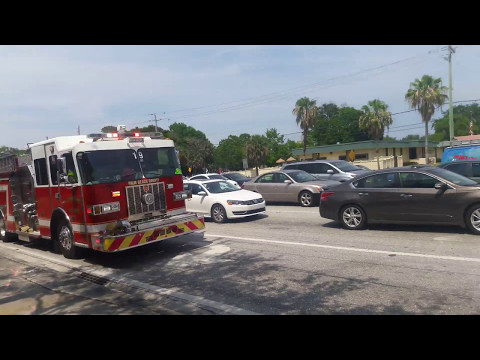 PALM BEACH COUNTY FIRE RESCUE ENGINE 19 AND RESCUE 19 RESPONDING CODE 3!!! with Q airhorn, rumbler