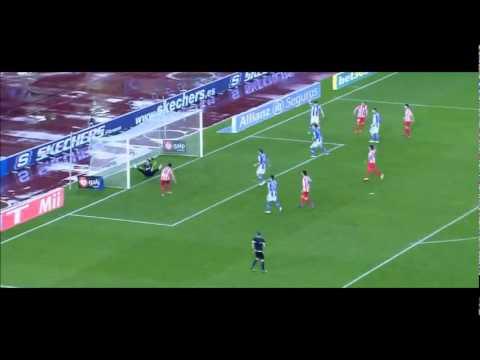 Radamel Falcao: Hat-trick! Real Sociedad 0-4 Atlético Madrid (21/01/2012)