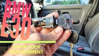 E30 Door Lock Cylinder replacement Berty30 Build Episode 20