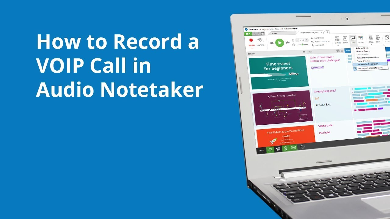 How To Record A Voip Call In Audio Notetaker Youtube Are Few Things Take Note Of When Rewiring Your Home For