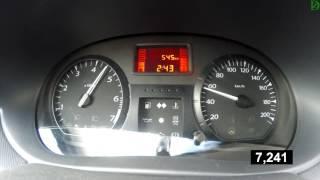 Lada Largus - разгон под нагрузкой с кондиционером (Racelogic)
