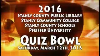 Stanly County 2016 Quiz Bowl